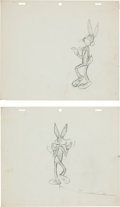 Animation Art:Production Drawing, Bugs Bunny Production Drawing Animation Original Art Group (WarnerBrothers, 1950s).... (Total: 2 Original Art)