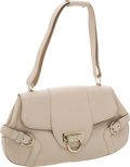 Luxury Accessories:Bags, Salvatore Ferragamo Light Beige Leather Shoulder Bag. ...
