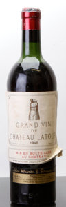 Red Bordeaux, Chateau Latour 1945 . Pauillac. hs, ll, taped label, wasl, cc, cuc. Bottle (1). ... (Total: 1 Btl. )