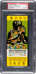 Football Collectibles:Tickets, 1968 Super Bowl II Green Bay Packers Vs. Oakland Raiders Full Ticket, PSA VG 3....