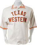 Basketball Collectibles:Uniforms, Circa 1965-66 Jerry Armstrong Game Worn Texas Western Miners WarmUp Jacket....