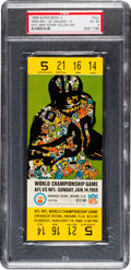 Football Collectibles:Tickets, 1968 Super Bowl II Green Bay Packers Vs. Oakland Raiders Full Ticket, PSA VG-EX 4. ...