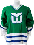 Hockey Collectibles:Uniforms, 1984-85 Ron Francis Game Issued Hartford Whalers Jersey. ...