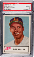 Baseball Cards:Singles (1950-1959), 1954 Dan-Dee Potato Chips Bob Feller PSA Mint 9 - Pop Four, NoneHigher! ...