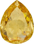 Estate Jewelry:Unmounted Diamonds, Unmounted Fancy Intense Orange-Yellow Diamond. ...