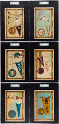 Non-Sport Cards:Sets, 1910 T6 Murad Cigarettes College Series Premiums SGC Graded Collection (10). ...