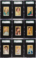 """Non-Sport Cards:Sets, 1939 Rothmans """"Beauties of the Cinema"""" Complete Set (40) - #3 onthe SGC Set Registry...."""