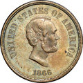 Patterns, 1866 5C Five Cents, Judd-487, Pollock-576, R.7, PR64 Brown NGC. CAC....