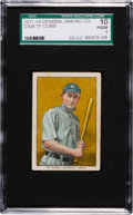 Baseball Cards:Singles (Pre-1930), 1911-14 D304 General Baking Ty Cobb SGC 10 Poor 1. ...