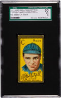 Baseball Cards:Singles (Pre-1930), 1911 T205 Hassan Richard Hoblitzell, No Stats SGC 60 EX 5 - AmongThe Finest Known! ...