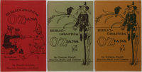 [Books About Books]. Peter E. Hanff & Douglas G. Greene. Three Editions of Bibliographia Oziana
