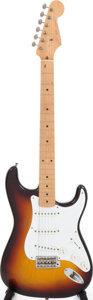 Musical Instruments:Electric Guitars, 1958 Fender Stratocaster Sunburst Solid Body Electric Guitar, Serial # 024681....