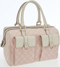 Luxury Accessories:Bags, Gucci Pink GG Monogram Canvas and Leather Bag. ...