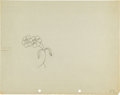 Animation Art:Production Drawing, Google-Eyed Flower Animation Art Production Drawing (undated)....