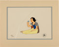 Animation Art:Production Cel, Snow White with Bird Hand-Painted Animation Cel LimitedEdition #130/275 (Walt Disney, c. 1970s)....