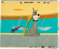 Animation Art:Production Cel, The Jetsons Mel Blanc Signed Production Cel Setup withOriginal Background (undated).... (Total: 3 Items)