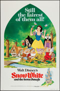 "Movie Posters:Animation, Snow White and the Seven Dwarfs (Buena Vista, R-1975). One Sheet (27"" X 41""). Animation.. ..."