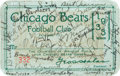 Football Collectibles:Tickets, 1933 Chicago Bears Team Signed Season Pass - From Championship Season, with Bill Hewitt!...