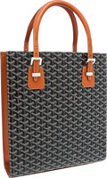 Luxury Accessories:Accessories, Goyard Brown Chevron Monogram Canvas & Leather Comores ToteBag. ...