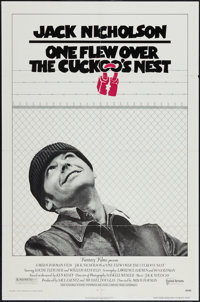 "One Flew Over the Cuckoo's Nest (United Artists, 1975). One Sheet (27"" X 41""). Academy Award Winners"