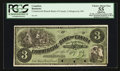 Canadian Currency: , Collingwood, PC- Commercial Branch Bank of Canada $3 186_ Ch. #200-10-02FP Face Proof. ...