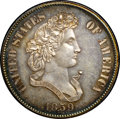 Patterns, 1859 P50C Half Dollar, Judd-241, Pollock-297, R.4, PR64+ NGC. CAC....