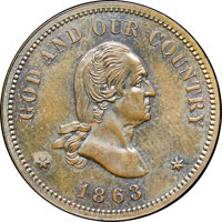 1863 2C Two Cents, Judd-305, Pollock-370, R.4, PR64+ Brown NGC. CAC....(PCGS# 60460)