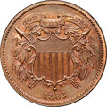Patterns, 1863 2C Two Cents, Judd-312, Pollock-377, R.4, PR66 Brown NGC. CAC....