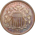 Patterns, 1866 5C Shield Five Cents, Judd-508, Pollock-592, High R.6, PR64Brown NGC. CAC....