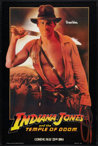 "Indiana Jones and the Temple of Doom (Paramount, 1984). One Sheet (27"" X 41"") Advance. Adventure"