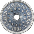 Patterns, 1884 5C Five-Cent Piece, Judd-1725, Pollock-1935, R.7, PR64+ CameoNGC....