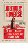 "Movie Posters:Adventure, Anthony Adverse (Warner Brothers, R-1948). One Sheet (27"" X 41"").Adventure.. ..."