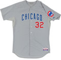 Baseball Collectibles:Uniforms, 2012 Chris Volstad Game Worn Chicago Cubs Jersey....