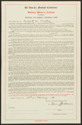 Football Collectibles:Others, 1946 Buffalo Bisons Uniform Player's AAFC Contract....