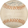 Autographs:Bats, 1967 Baltimore Orioles Team Signed Baseball (25 Signatures)....