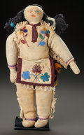 American Indian Art:Beadwork and Quillwork, A CHIPPEWA BEADED HIDE MALE DOLL...
