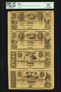 Obsoletes By State:Louisiana, New Orleans, LA- The Louisiana State Bank $1-$1-$2-$3 G2a-G2a-G4a-G6a Uncut Sheet. ...