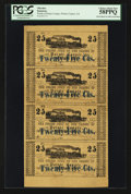 Obsoletes By State:Louisiana, Pointe Coupee, LA- The Police Jury Of The Parish Of Pointe Coupee 25¢-25¢-25¢-25¢ Mar. 24, 1862 Uncut Sheet. ...
