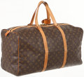 Luxury Accessories:Bags, Louis Vuitton Classic Monogram Canvas Square Keepall 55 WeekenderBag. ...