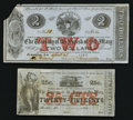 Obsoletes By State:Louisiana, Franklin, LA- Parish of St. Mary 25¢ Remainder, $2 April 23, 1862 . ... (Total: 2 notes)
