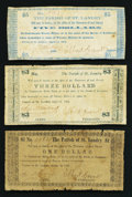 Obsoletes By State:Louisiana, (Opelousas), LA- Parish of St. Landry $1, $3, $5 Apr. 14, 1862. ... (Total: 3 notes)