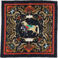 "Luxury Accessories:Accessories, Hermes Red and Gold ""Cheval Turc,"" by Christiane Vauzelles SilkScarf. ..."