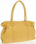 Luxury Accessories:Bags, Carlos Falchi Yellow Leather Tote Bag. ...