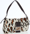 Luxury Accessories:Bags, Fendi Leopard Ponyhair Baguette Shoulder Bag. ...