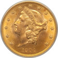 Liberty Double Eagles: , 1904 $20 MS64 PCGS. PCGS Population (30448/4320). NGC Census:(33615/6626). Mintage: 6,256,797. Numismedia Wsl. Price for p...