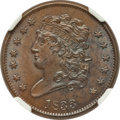 Half Cents: , 1833 1/2 C MS64 Brown NGC. C-1. NGC Census: (78/43). PCGSPopulation (58/26). Mintage: 120,000. Numismedia Wsl. Price for ...