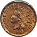 Indian Cents: , 1909 1C MS65 Red PCGS. CAC. PCGS Population (615/158). NGC Census:(253/31). Mintage: 14,370,645. Numismedia Wsl. Price for...