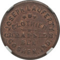 Civil War Merchants, 1861 John Lauferty, Goshen, IN, MS63 Brown NGC. Fuld-IN350E-1a....