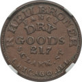 Civil War Merchants, (1861-65) R. Heilbroner, Dry Goods, Chicago IL, AU58 NGC.Fuld-IL150AD-1a....