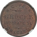 Civil War Merchants, 1861 W.G. Peck, Grocer, Chicago, IL, MS62 Brown NGC.Fuld-IL150AT-2a....